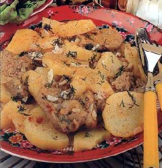 Dinstani sojini odresci sa krompirom