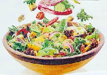 Mešana salata s majonezom i ajvarom