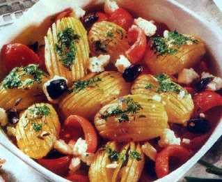 Krompir s belim lukom i fetom
