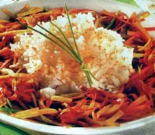 Povrće iz voka s pirinčem