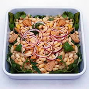 Riblja salata s krompirom i pasuljem