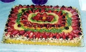 Brza voćna torta s keksom