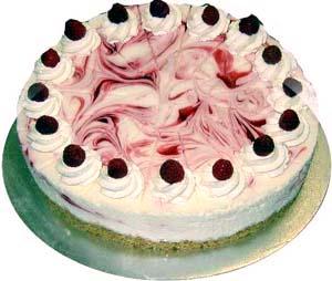 Nepečena pink torta