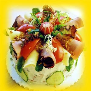 Slana torta s želatinom i feta sirom