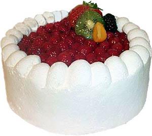 Keks torta s jogurtom i voćem
