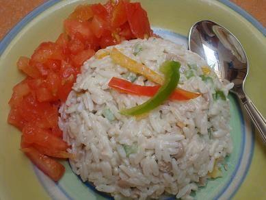Salata od pirinča, graška i kukuruza
