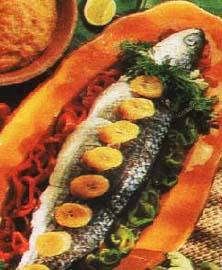Morska riba u belom vinu