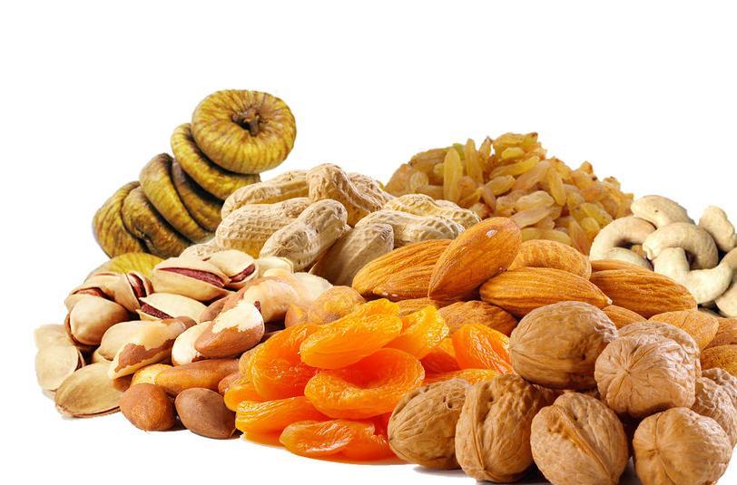 Suvo voće umesto grickalica