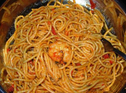 Špageti sa škampima
