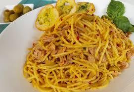 Špageti sa tunjevinom i pečurkama