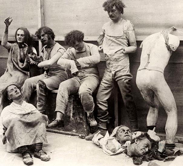 Lutke uništene u požaru u muzeju Madam Tiso 1929.