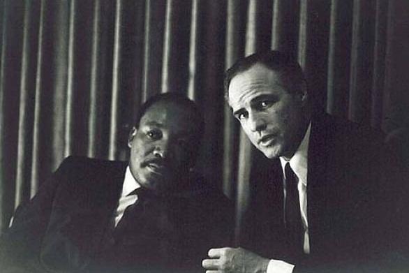 Martin Luter King i Marlon Brando