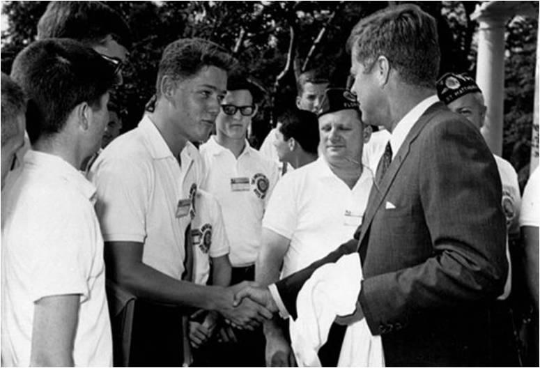 Bil Klinton i Džon Kenedi
