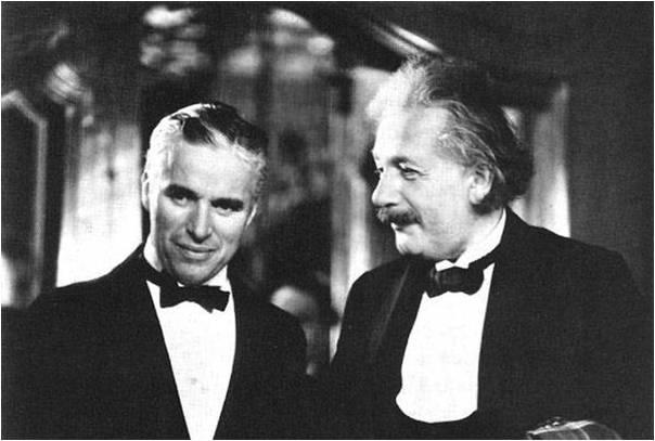 Čarli Čaplin i Albert Ajnštajn