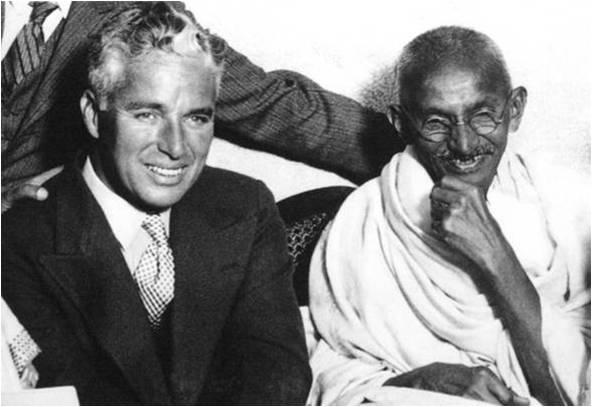 Čarli Čaplin i Gandi