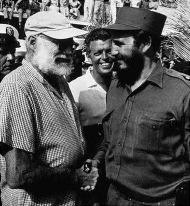 Ernest Hemingvej i Fidel Kastro