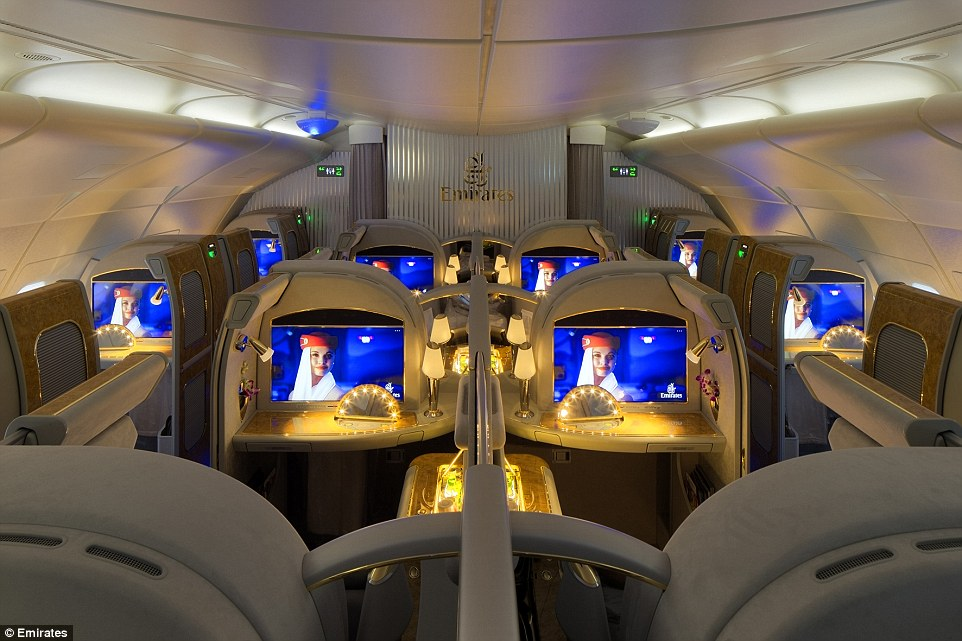 "Kabina prve klase u ""Emirates"""