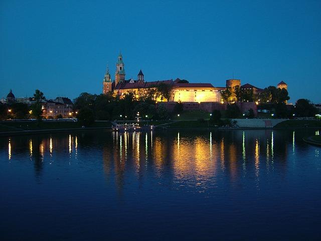 Krakov: stari grad na obali Visle
