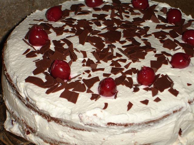 Torta s višnjama i pudingom