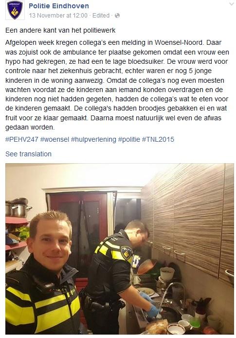 Foto: Facebook/Politie Eindhoven