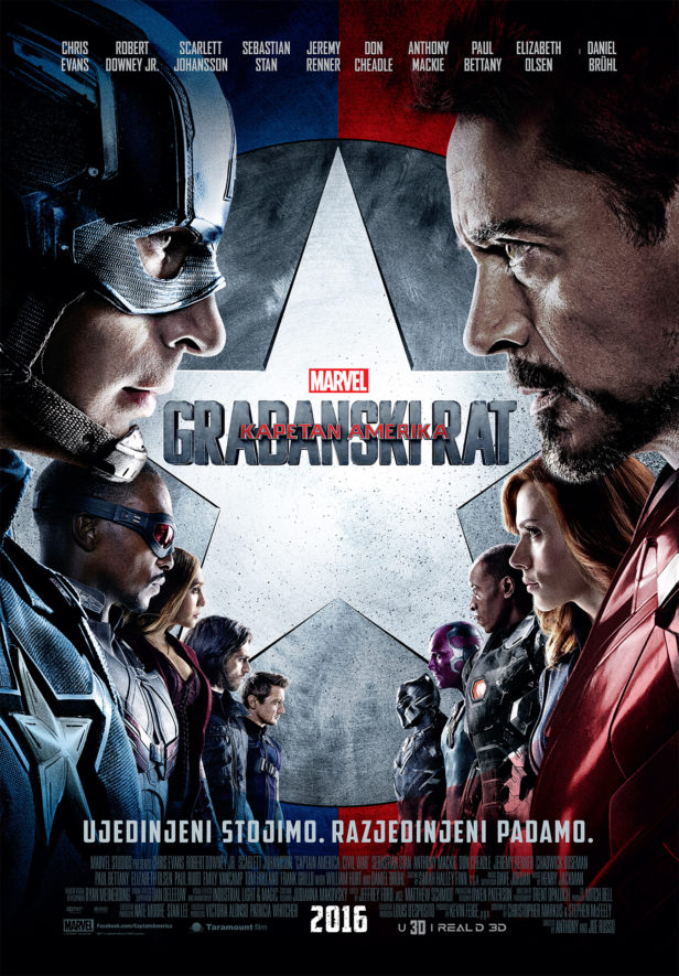 Captain America Civil War plakat