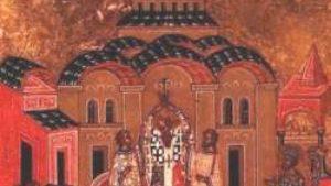 Foto: sr.wikipedia.org/Ikona Vozdviženje časnog krsta iz XV veka/ Novgorod