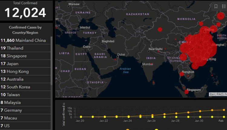 Mapa Sirenja Koronavirusa U Realnom Vremenu Sa Tacnim Brojem